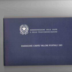 Libro francobolli 1985 Carte valori postali emesse dall'amministrazione postale italiana nel 1985 – Nuovi MNH
