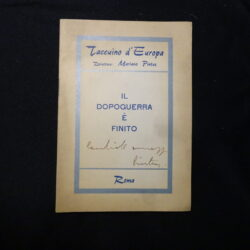 Taccuino d'Europa – Il dopoguerra è finito – firma Mariano Pintus