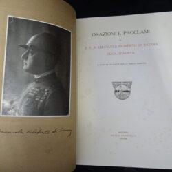 Orazioni e Proclami di S.A.R. Emanuele Filiberto di Savoia Duca d'Aosta – A cura di un fante della Terza Armata – Bologna Zanichelli 1926