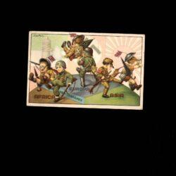 Cartolina illustratore Bertiglio – Timbro Fascio di Ugnano – PNF
