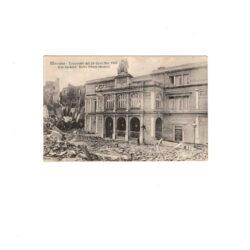 CARTOLINA MESSINA – TERREMOTO DEL 28 DICEMBRE 1908 VIALE GARIBALDI – TEATRO VITTORIO EMANUELE