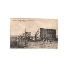 CARTOLINA MESSINA – TERREMOTO DEL 28 DICEMBRE 1908 – PIAZZA STAZIONE