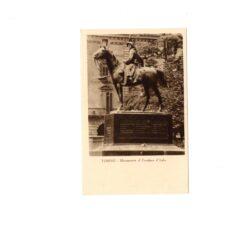CARTOLINA TORINO – MONUMENTO AL CAVALIERE D'ITALIA