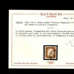 Italia 1862 Regno di Sardegna Vittorio Emanuele II 10C. Usato