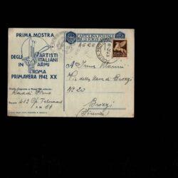 Intero Postale Emissione Privata – Prima Mostra degli artisti italiani in armi 1942