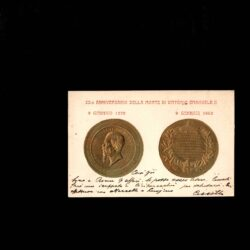 Cartolina 25° Anniversario della morte di Vittorio Emanuele II