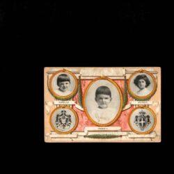 Cartolina augurale per le Case del pane dotto l'Alto Patronato di S.M. La Regina Madre