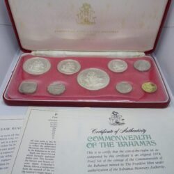 COMMONWEALTH OF THE BAHAMAS – PROOF SET – SILVER 1974 – 9 COINS 5/2/1/0,5 $