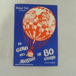 Etichetta cinema / mini locandina Michael Todd Il giro del mondo in 80 giorni – anni '50/60 – Technicolor