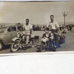 Cartolina motociclisti Harley Davidson – Piazzale Michelangelo Firenze
