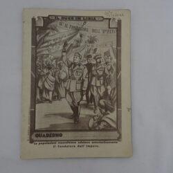 Quaderno scolastico Il Duce in Libia