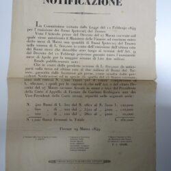 Coppia editti Governo Provvisorio Toscano 1849 argomentazioni finanziarie