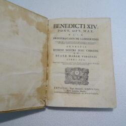Benedicti XIV Pont OPT Max Prosperi Card de Lambertinis 1758