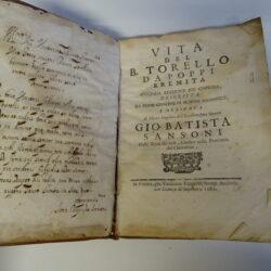 Vita del Torello da Poppi Eremita seconda edizione… Gio Battista Sansoni 1689