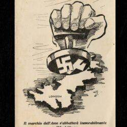 Cartolina propagandistica Marchio dell'Asse sull'Inghilterra – Legione Volontari