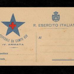 Regio Esercito Italiano Ospedale da campo 036 IV armata cartolina in franchigia