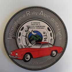 Piatto International Rally Alpe della Luna autografo Lamborghini Ferruccio